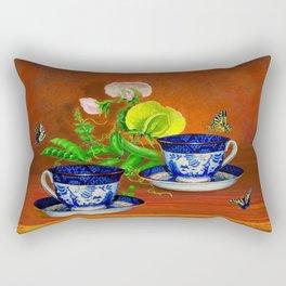 Teacups with Snap Peas Rectangular Pillow