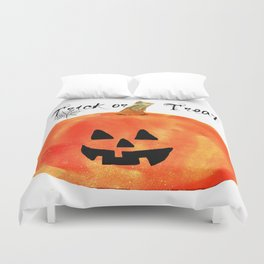 Trick or Treat Jack-O-Lantern, Halloween Pumpkin Duvet Cover