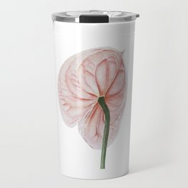 Pink Anthurium Travel Mug