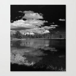Sprague Lake under Clouds Canvas Print