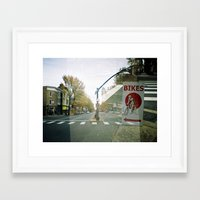 bikes Framed Art Prints featuring bikes... by phoebe ford reid