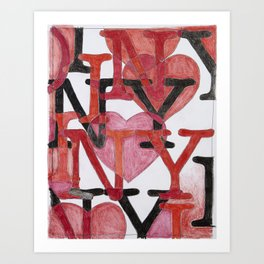 Ode To Milton Glaser: I Heart NYC, From The Geography Series Art Print
