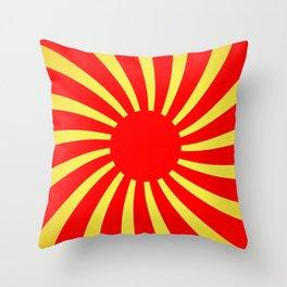 Abstract illustration illusion rising sun Throw Pillow