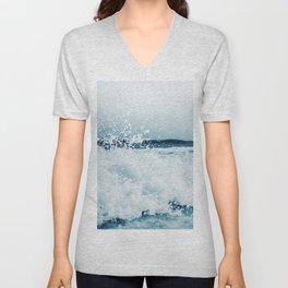 Ocean Wave Art Print By Synplus Unisex V-Neck