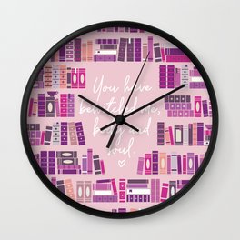 Mr Darcy Quote Bookcase Wall Clock