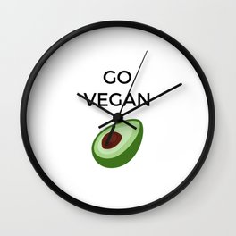 GO VEGAN Wall Clock