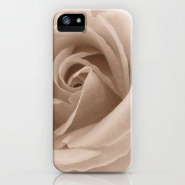 Rose in sepia iPhone Case
