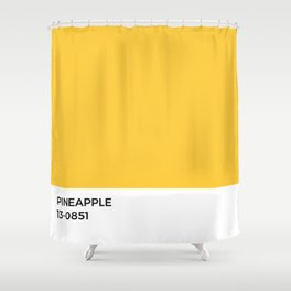Pineapple Pantone Chip •Yellow • Sunflower • Summer • Golden Hour • Sunshine • Sunny • Happy • Art Shower Curtain