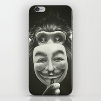 hat iPhone & iPod Skins featuring Anonymous by Dr. Lukas Brezak