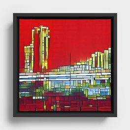 City of Lights Framed Canvas