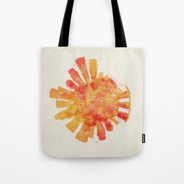 Singapore Colorful Skyround / Skyline Watercolor Painting Tote Bag