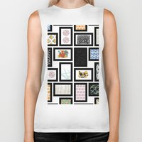 frames Biker Tanks featuring Wall of Frames by Natalie North