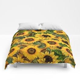Vintage & Shabby Chic - Noon Sunflowers Garden Comforters