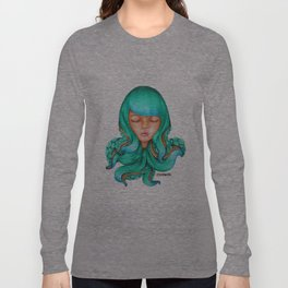 Octopus Hair Girl Long Sleeve T-shirt