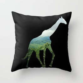 Giraffe in the Smokies  Throw Pillow