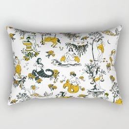 Zodiac Toile Pattern Rectangular Pillow