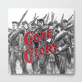 Gone To Glory / Vintage typography redrawn and repurposed Metal Print