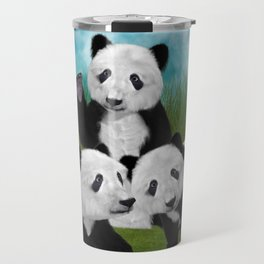Panda Bear Cubs Love Travel Mug