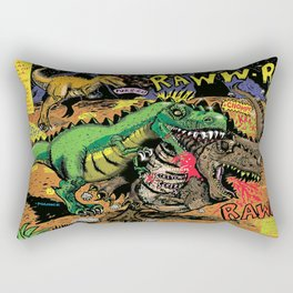 Space Chick & Nympho: Vampire Warrior Party Girl Comix #1- Tyrano the Dinosaur-God  in Comic Page  Rectangular Pillow