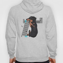 Attack of the Enormous Dachshund!!! Hoody