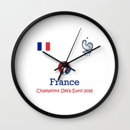 Champion Uefa Euro 2016 France Wall Clock