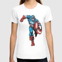 avenger T-shirts featuring Avenger: Cap' by Popp Art