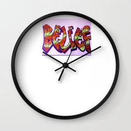 "Graffitti ""Belief"" Wall Clock"