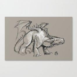 Dragon Sketch Canvas Print