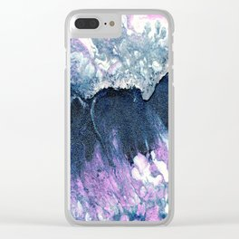 Dark Grey & Pink Abstract I Clear iPhone Case