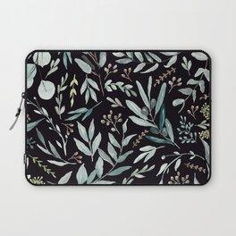 Black Eucalyptus Pattern Laptop Sleeve
