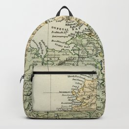 Encyclopedia Retro Map of Northern Ireland Backpack