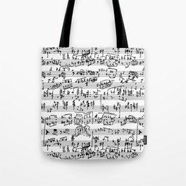 Hand Written Sheet Music Tote Bag