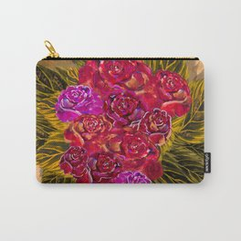 Roses over paper Carry-All Pouch