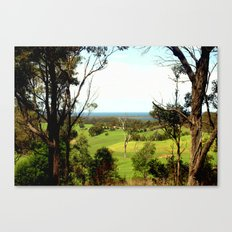Farming properties over-looking the Great Southern Ocean Canvas Print