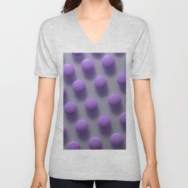 Violet Pills Pattern Unisex V-Neck