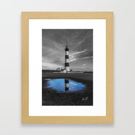 Bodie Island Lighthouse and Puddle Framed Art Print