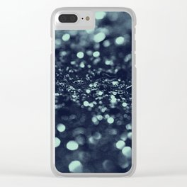 Sparkling Blue Summer Night Lady Glitter #2 #shiny #decor #art #society6 Clear iPhone Case