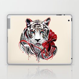 White Tiger Laptop & iPad Skin