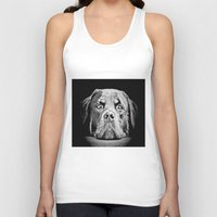 rottweiler Tank Tops featuring Rottweiler Drawing By Annie Zeno by Annie Zeno