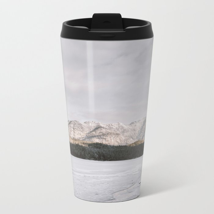 Frozen Lake Views - Landscape Photography Metal Travel Mug