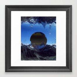 Mountain print Framed Art Print