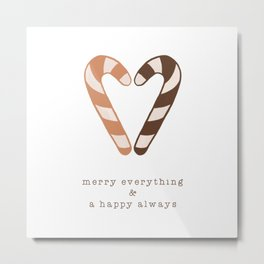 Merry Everything, Happy Always, Christmas Candy Metal Print