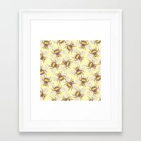 bees Framed Art Prints featuring Bees! by Good Sense