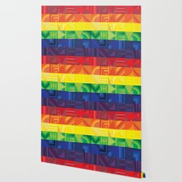 Rainbow Geometric Wallpaper