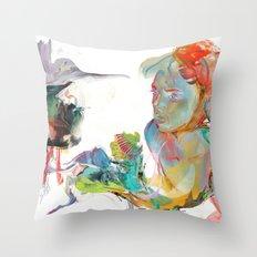 Drifting Particles Throw Pillow
