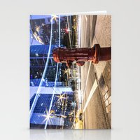 the lights Stationery Cards featuring Lights by Justin Forster Photo