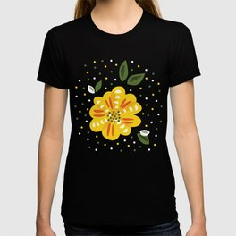 Abstract Yellow Primrose Flower T-shirt