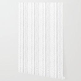 Moroccan Stripe in Grey Wallpaper