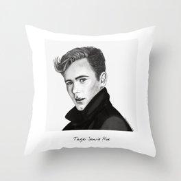 Tarjei Sandivk Moe drawing Throw Pillow