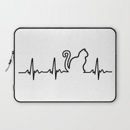 Cat Heartbeat Laptop Sleeve